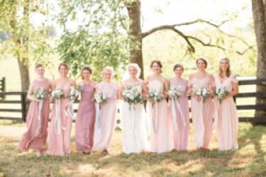 Mismatch Bridesmaid Dresses, Photo by Leah Barry Photography