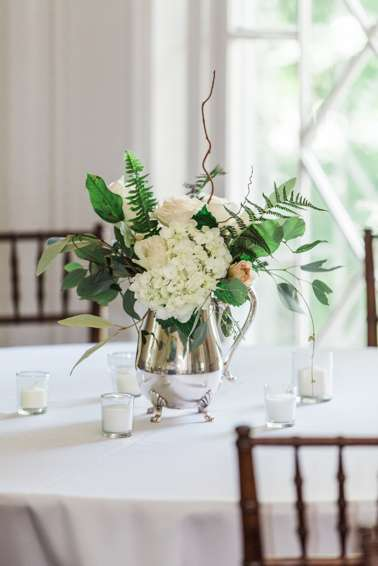 Timeless and traditional wedding table