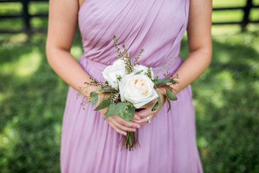 Small simple bridesmaid bouquet
