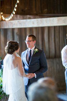 Classic rustic barn wedding ceremony