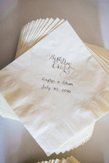 Personalized event napkins