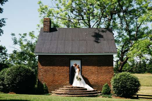Traditional romantic wedding at rural Kentucky wedding venue