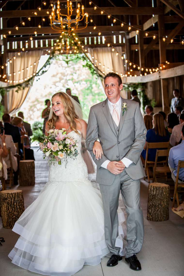 Kentucky summer barn wedding ceremony, vibrant florals, refined rustic, southern