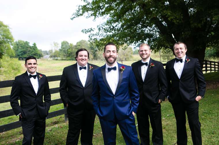 Groom and Groomsmen at Classy Glam Southern Fall Wedding