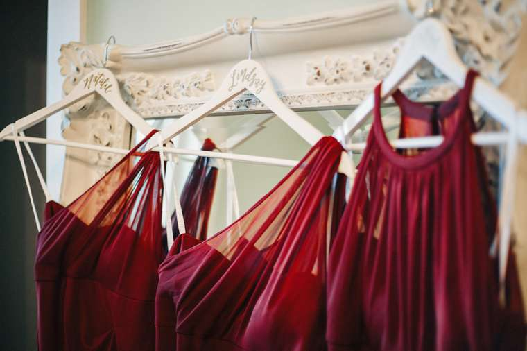 Marsala / Burgundy bridesmaid dresses