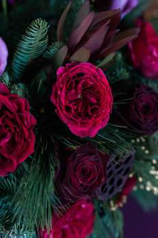 Rich moody color palette for winter wedding