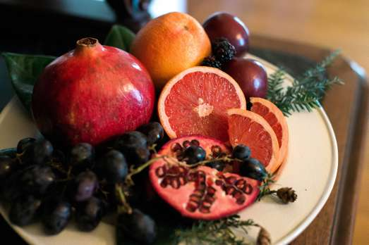 Winter fruit tray
