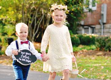 Southern flower girl and ring bearer