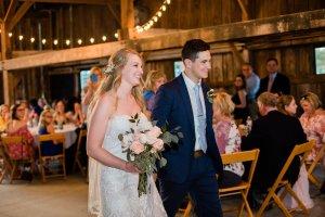 Bride & Groom enter wedding reception