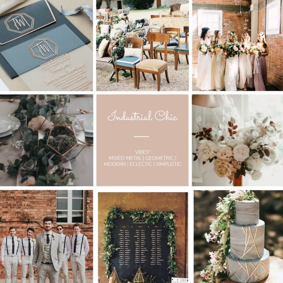 Industrial wedding geometric eclectic