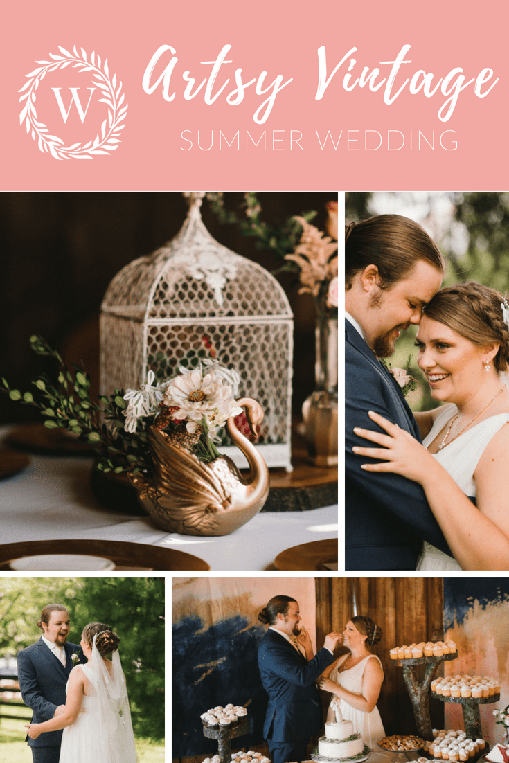 Artsy Vintage Summer Wedding at Warrenwood Manor in Danville, Kentucky