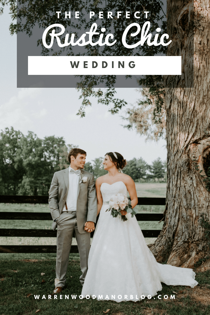 Rustic Chic wedding inspiration from Warrenwood Manor