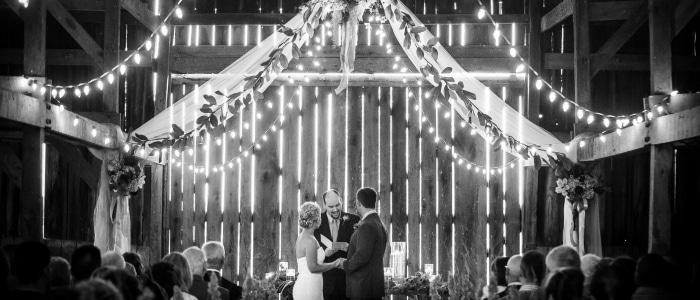 Barn Ceremony at Warrenwood Manor, Premier Kentucky Wedding Venue