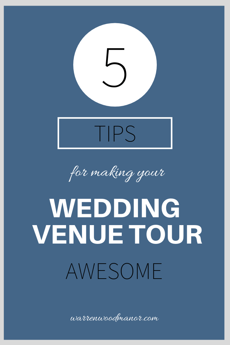 Tips for an awesome wedding venue tour