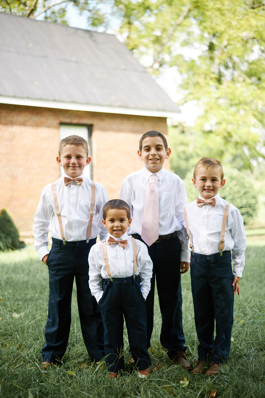 Ring bearers at wedding in Kentucky