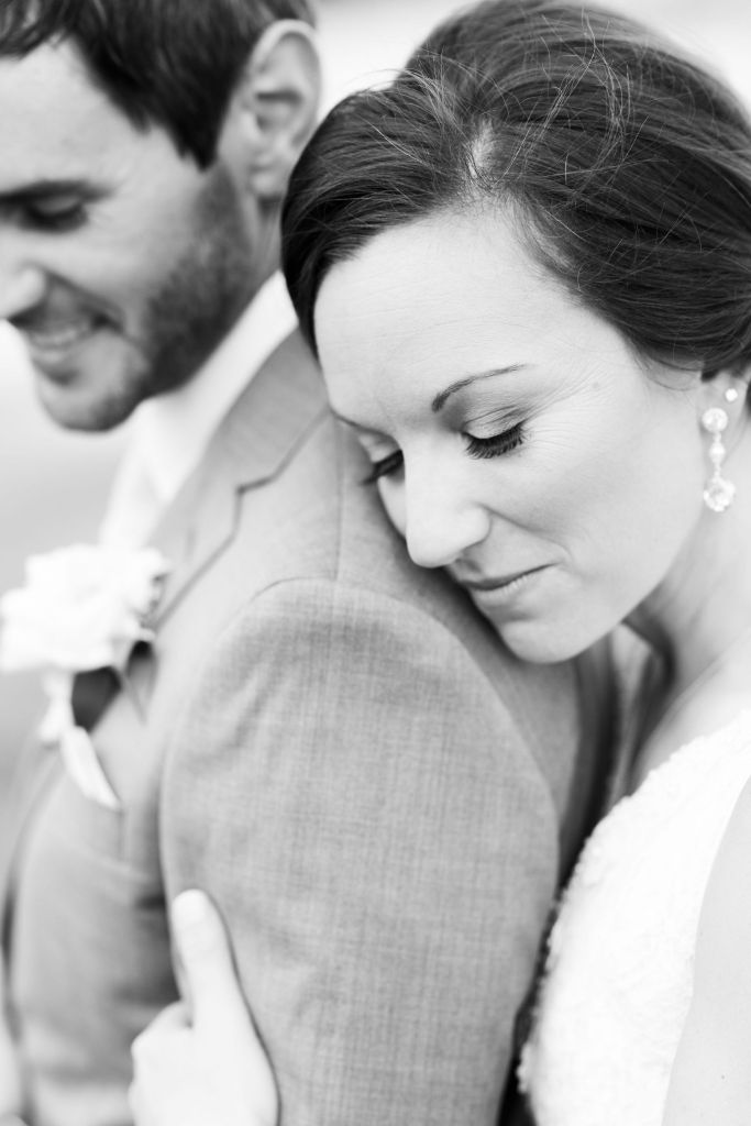 Pastel Spring Southern Chic Wedding at Warrenwood Manor - Kentucky Wedding Venue- Stunning Black and White photo of bride & groom