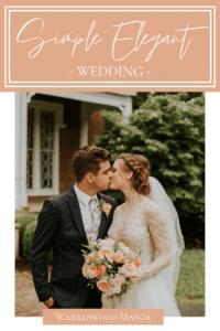 Simple Elegant Wedding at Warrenwood Manor in Danville, Kentucky
