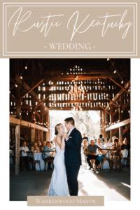 Rustic Kentucky Wedding at Warrenwood Manor