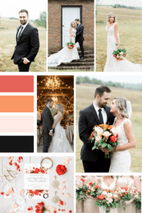 Vibrant Fall Wedding Mood Board - Warrenwood Manor - Kentucky Wedding Venue