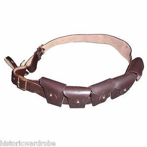 British P-1903 Leather Five Pocket Cavalry Bandolier Dark Brown - Reproduction