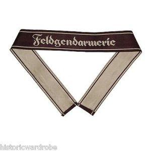 WW2 German Army FELDGENDARMERIE BEVO Cuff Title - Reproduction x 25 UNITS