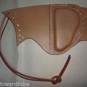 WWII U.S. Garand Leather Sniper Rifle Cheek Pad TAN Color - Reproduction