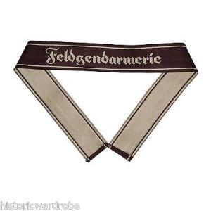 WW2 German Army FELDGENDARMERIE BEVO Cuff Title - Reproduction x 2 UNITS