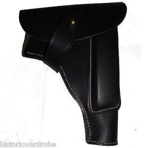 German WWII P35 Radom Leather Holster - Black Color