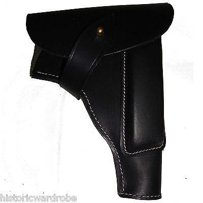 German WWII P35 Radom Leather Holster - Black Color