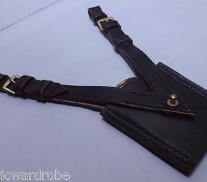 British Sam Browne Leather Sword Frog - Dark Brown
