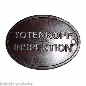WWII German SS Copper Identification Tag - Reproduction