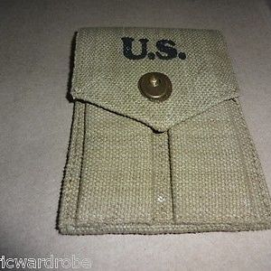 WWII US .45 Cal Double Magazine Pouch - Reproduction x 2 UNITS