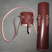 WWII German K98 Rifle Sniper Scope Carry Case W/Strap Brown - Reproduction
