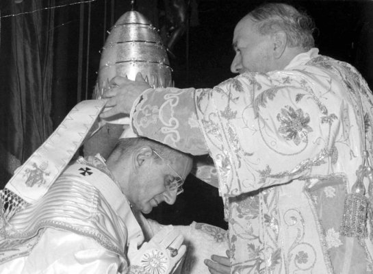 A pope being crowned