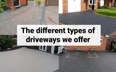 The different types of driveways we offer