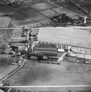 Orford Tannery from the air, 1951. Copyright Areofilms Limited/Britain From Above.