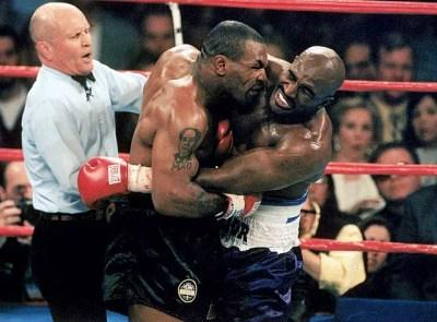 Mike Tyson Bites Evander Holyfield\'s ear