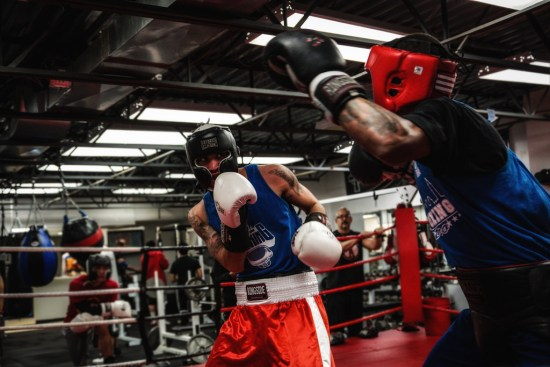 Slow sparring to develop fight reflexes