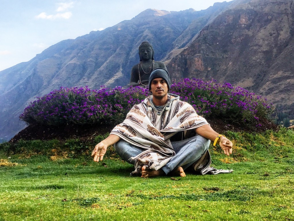 Branden Collinsworth at the Ashram Temple in the sacred Valley of Peru.