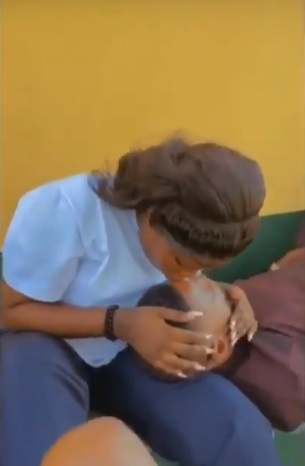 """""""Nothing is wrong with this"""" – Reactions as lady shows off loved-up video with sugar daddy"""