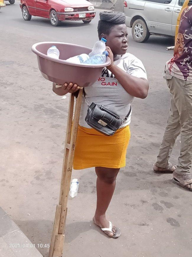Physically challenged lady who sold 'pure water' allegedly staged the scenario (Details)