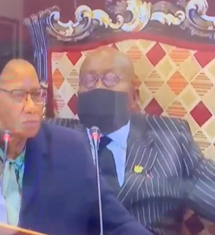 Watch moment Ghana's 77-year-old President, Nana Akufo-Addo dozed off at the recently concluded Africa Financing Summit in France (video)