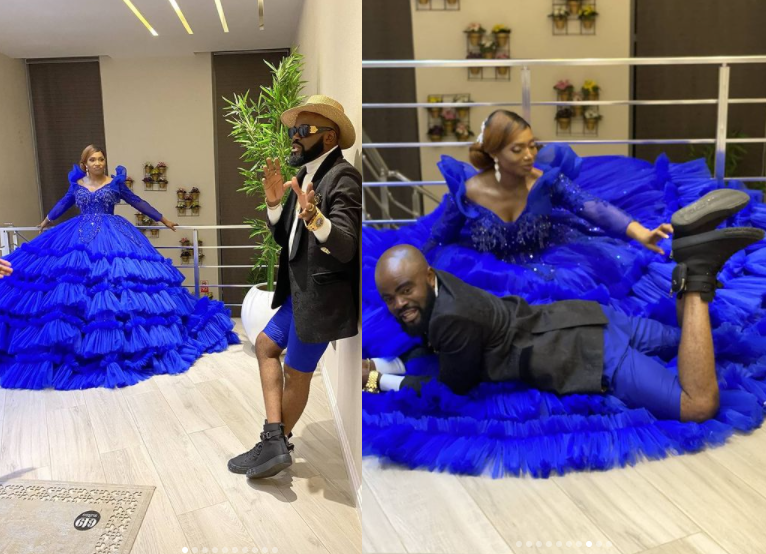Nigerian actor, Chief Imo and his wife celebrate 10th wedding anniversary with lovely photos