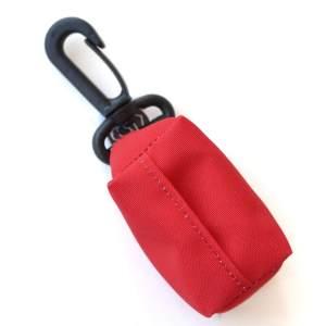 Kupownik, torebka na woreczki do sprzątania po psie, Czerwony