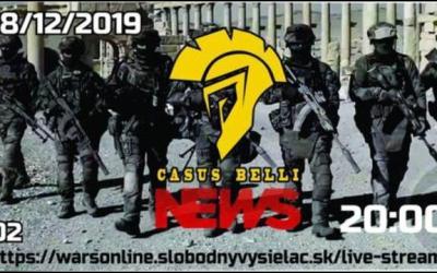 Casus belli News 02 – 2019-12-28 Aktuálne udalosti