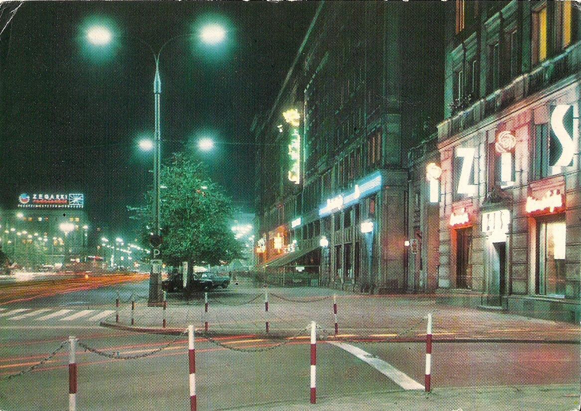 Ulica Marszałkowska IZIS, wg fotografii barwnej P. Krassowskiego