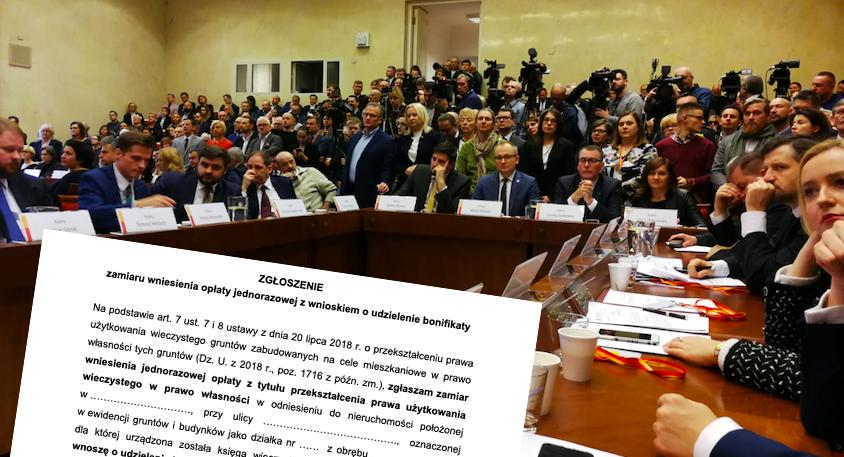 Radni PiS chcą zwołania nadzwyczajnej sesji Rady Warszawy ws. użytkowania wieczystego