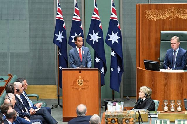 Parlemen Australia Berikan Standing Ovation ke Presiden Jokowi