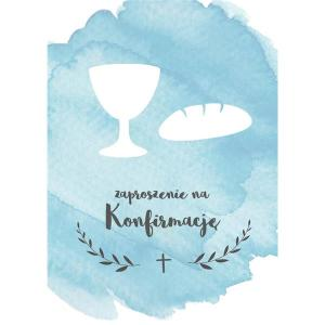 Kartka- Zaproszenie na konfirmację