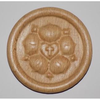 Magnes drewniany Róża Lutra